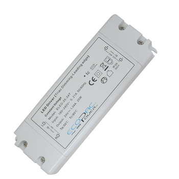 Ecopac UK ELED-25-24T 25 watt Mains (Triac) Dimmable constant voltage LED driver 24V IP20 ELED-25-24T  - Click to view a larger image
