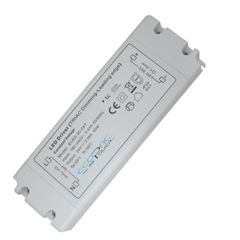 Ecopac UK ELED-50-24T 50 watt Mains (Triac) Dimmable constant voltage LED driver 24V IP20 ELED-50-24T  - Click to view a larger image