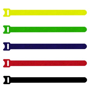 Penn Elcom Hook & Loop Cable Tie Black 200mm T1513/200  - Click to view a larger image