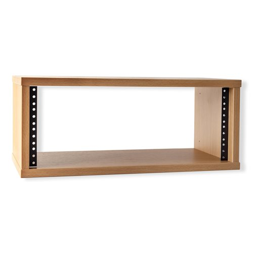 "Penn Elcom 2U Knotty Oak Effect Credenza Rack 250mm/9.84"" Deep R8600-250-2U-K  - Click to view a larger image"