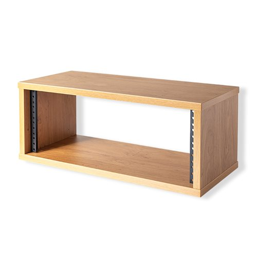 "Penn Elcom 6U Knotty Oak Effect Credenza Rack 470mm/18.5"" Deep R8600-450-6U-K  - 点击查看大图"