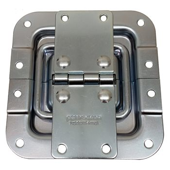 Penn Elcom Hinge With Lid Stay Offset Zinc P2522Z  - Click to view a larger image