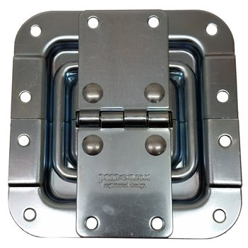 Penn Elcom Hinge With Lid Stay Offset Zinc P2597Z  - Click to view a larger image