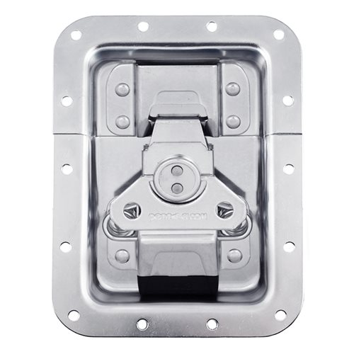 "Penn Elcom Large MOL3™ Recessed Butterfly Latch in Deep Plain Dish. Split to Hole Centre: 19mm / 3/4"" L944/525MOL3  - Click to view a larger image"