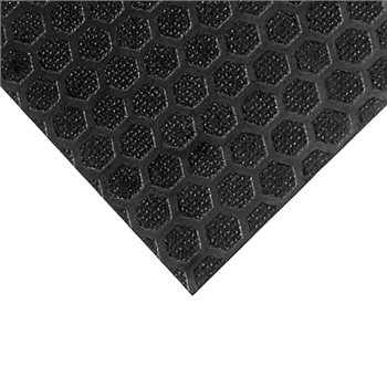 """Penn Elcom 8x4' Black Laminated Plywood Panel - Thickness: 9mm (3/8"""") Hexa Patterned M847111  - Click to view a larger image"""