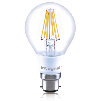 Integral LED Classic A 60 330Deg Filament-style Omni-Lamp 7W 27K B22 Dim 52-77-19  - Click to view a larger image