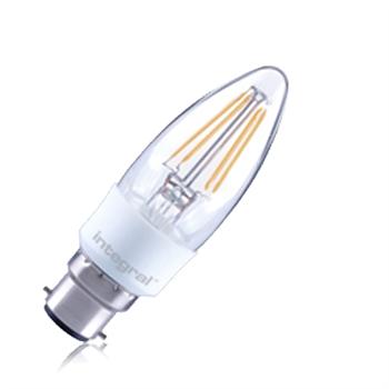 Integral LED Classic B 36 4.5W/27K BC Filament Omni Candle Dim ILCANDB22DC037