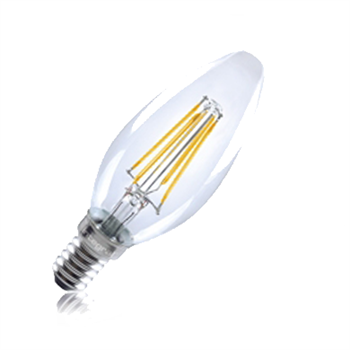 Integral LED Classic B 40 Non Dim 4W/27K SES Filament Omni Candle ILCANDE14NC034  - Click to view a larger image