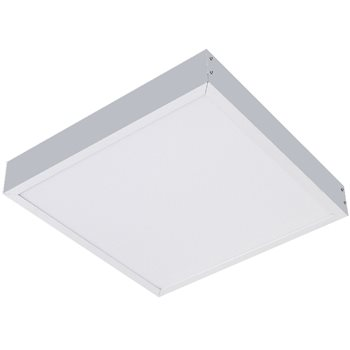 Comus LED Surface mounting frame in Silver for panels LEDPANSMFS  - Click to view a larger image