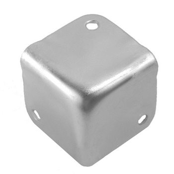 Penn Elcom Small Flat Corner Stackable Zinc 1064  - Click to view a larger image