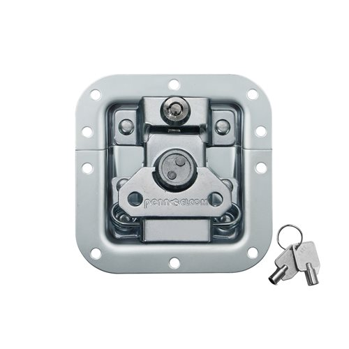 Penn Elcom Medium MOL� Recessed Butterfly Latch in Deep Plain Dish with Keylock L905/927  - Click to view a larger image