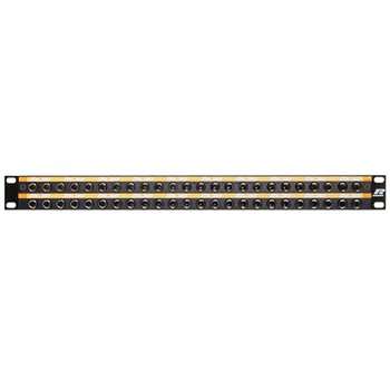 Neutrik 48-Way Longframe B Gauge Patchbay - Black Front Panel LF48-1O  - Click to view a larger image