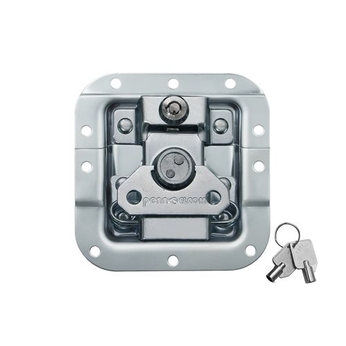 Penn Elcom Medium MOL® Recessed Butterfly Latch Offset Key Lock L907/927  - Click to view a larger image
