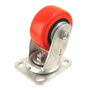 "Penn Elcom 4"" X 2"" Heavy Duty Caster 700 Lbs Swivel Red 8408HD  - Click to view a larger image"