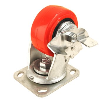 "Penn Elcom 4"" X 2"" Heavy Duty Caster 700 Lbs Braked 8408HDWB  - Click to view a larger image"