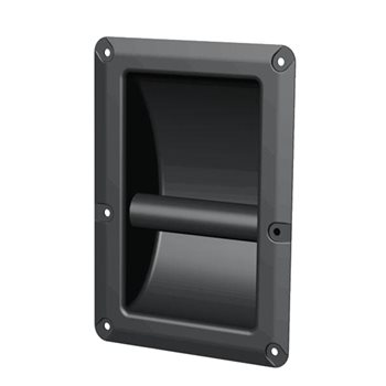 Penn Elcom 6 Hole Recessed Bar Handle Black H8805/06  - Click to view a larger image