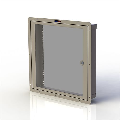 Penn Elcom RWB Cavity Wall Box M6 with Door 12U Cream RWB-M6-12UCM  - Click to view a larger image
