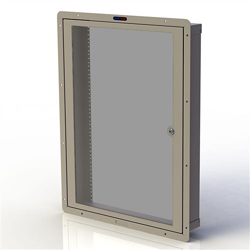 Penn Elcom RWB Cavity Wall Box M6 with Door 16U Cream RWB-M6-16UCM  - Click to view a larger image