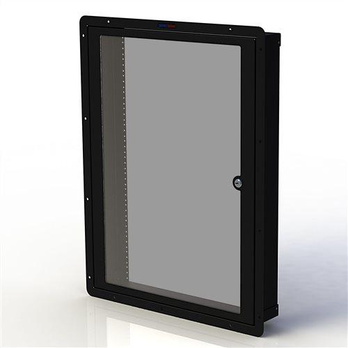 Penn Elcom RWB Cavity Wall Box, M6 with Door 16U Black RWB-M6-16UK  - Click to view a larger image