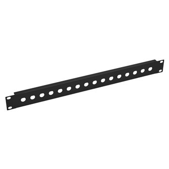 Penn Elcom 1U Rack Panel Punched For 16 x BNC R1280/1UK/16  - Click to view a larger image