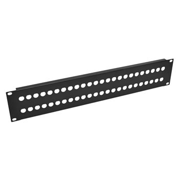 Penn Elcom 2U Rack Panel Punched For 48 x BNC R1280/2UK/48  - Click to view a larger image