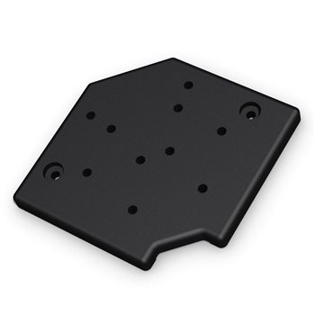 "Penn Elcom Universal Wheel Plate for 100mm / 4""  Castors W9980  - Click to view a larger image"