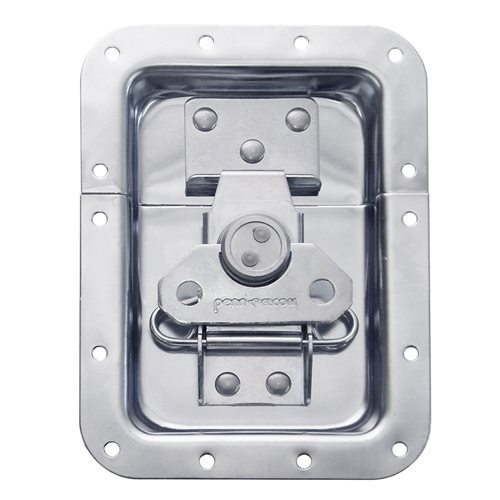 Penn Elcom Large Recessed Butterfly Latch L925/530Z  - Click to view a larger image