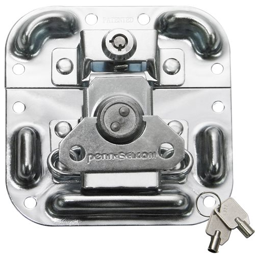 Penn Elcom MOL™ Latch with Key Lock in Surface Mount Dish with Protective Ridges L405/927  - Click to view a larger image