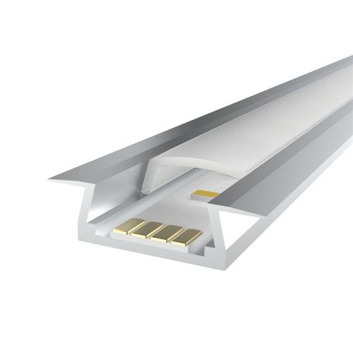 Penn Elcom 2M LEDAL05 KIT for 6mm Recessed Aluminium Profile LEDAL05M2  - Click to view a larger image