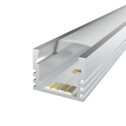 Comus 2M LEDAL07 KIT for 12mm Deep Aluminium Profile LEDAL07M2  - Click to view a larger image