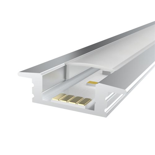 Penn Elcom 2m Kit 12.2mm Recessed Aluminium Profile LEDAL08M2  - Click to view a larger image