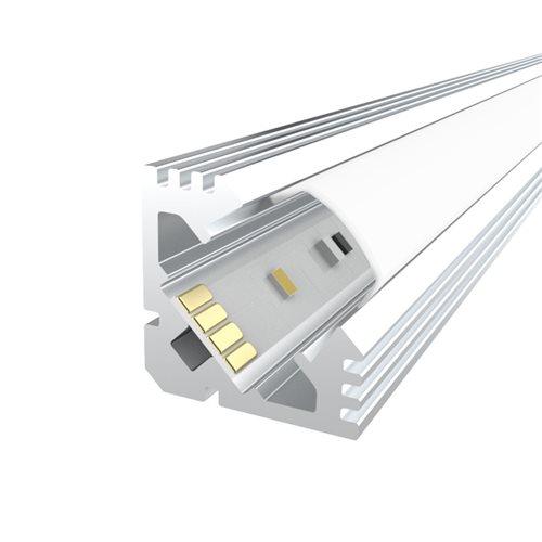 Penn Elcom 2m Kit 19mm Aluminium Corner Profile LEDAL11M2  - Click to view a larger image