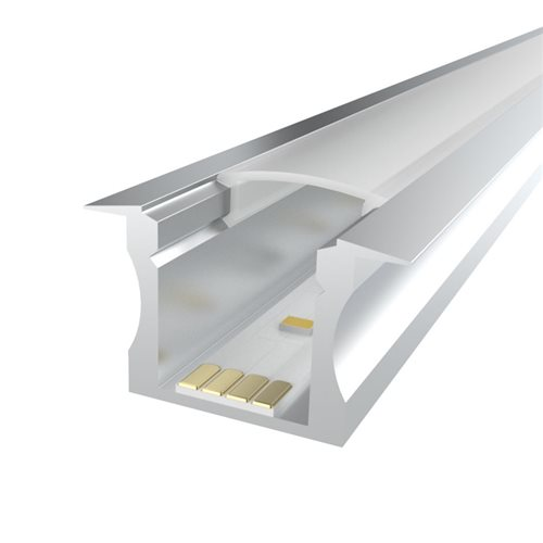 Penn Elcom 2m kit 15mm Recessed Aluminium Profile LEDAL14M2  - Click to view a larger image