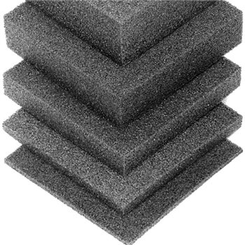Penn Elcom Plank Foam Charcoal Rigid for shock mount 2743mm x 610mm x 25mm ( 1in) M62925  - Click to view a larger image