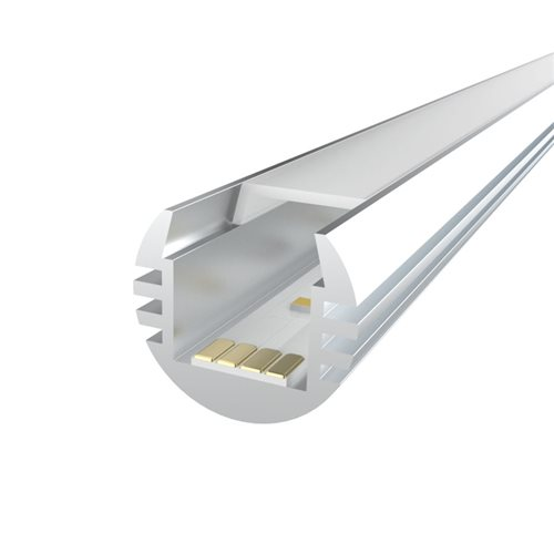 Penn Elcom 2m Kit 11.2mm Deep Round Aluminium Profile LEDAL25M2  - Click to view a larger image