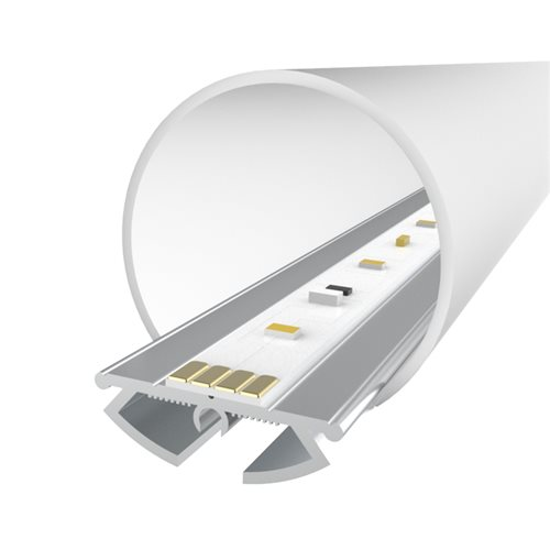 Comus 1M LEDAL09 KIT for 21mm Ceiling Light Aluminium Profile  - Click to view a larger image