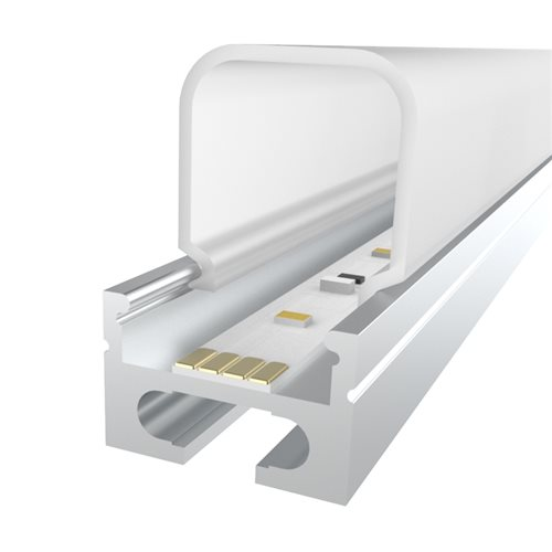 Comus 1M LEDAL27 KIT for 16.9mm Ceiling Aluminium Profile with Deep Rectangular Cover LEDAL27  - Click to view a larger image