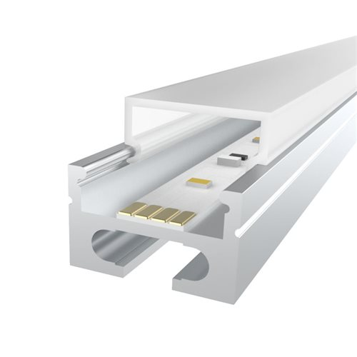 Penn Elcom 2m Kit 16.9mm Aluminium Profile with Square Cover LEDAL26M2  - Click to view a larger image