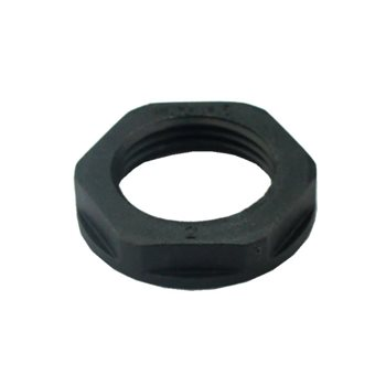 Comus Cable Gland Lock Nut M20x1.5 Thread Black 53119120  - Click to view a larger image
