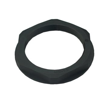 Comus Cable Gland Lock Nut M25x1.5 Thread Black 53119130  - Click to view a larger image