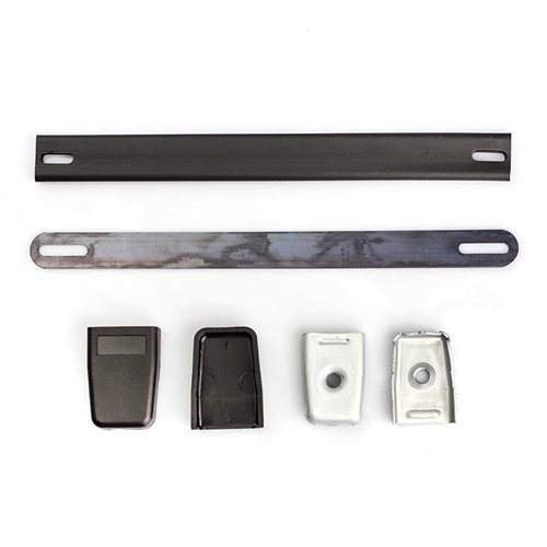 Penn Elcom Strap Handle With Metal Endcaps & Plastic Covers H1009  - Click to view a larger image