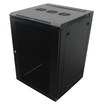 Penn Elcom WM Rack 600mm x 18U, Vented Door 10-32 Black R6618V-1032  - Click to view a larger image