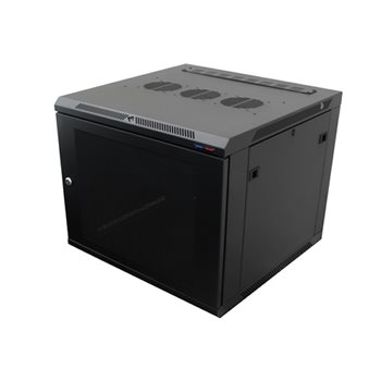 Penn Elcom WM Rack 600mm x 9U, Vented Door 10-32 Black R6609V-1032  - Click to view a larger image