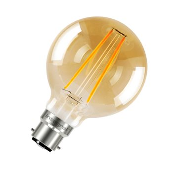Integral Sunset Vintage Globe 80mm 40 300Deg Filament-style 2.5W 1800K BC Non Dim 55-18-82  - Click to view a larger image