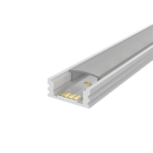 Comus White 1M 7mm Aluminium Profile Track for LED Flex LEDAL13W  - Click to view a larger image
