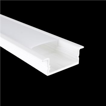 Penn Elcom 1m White Kit for 20.6mm Recessed Aluminium Profile LEDAL20W  - Click to view a larger image