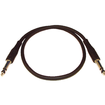 Neutrik B Gauge 1/4 in Jack Plug moulded Patch Cord 2 ft Black NRA-TCM 2FT-BLACK  - Clique para visualizar a imagem ampliada