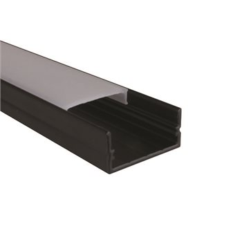 Penn Elcom 2m Black Kit 20.6mm Wide Aluminium Profile LEDAL21M2B  - Click to view a larger image