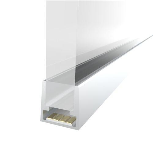 Penn Elcom 2M 10.3mm Slim Aluminium Profile for LED Flex LEDAL28A2M  - Click to view a larger image