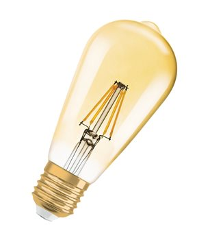 Osram Vintage Gold RF CLAS ST 54 7W/824 E27 Filament-style 2400K Dim 4052899972360  - Click to view a larger image